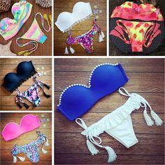 Women's Swimwear #2016 Vitage #Bikini Brand New VS Ladies Sexy Swimwear Pin Up Bandage #Bikini