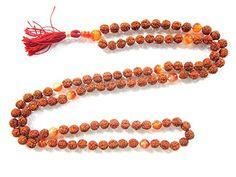 Yoga Energy Mala- Rudraksha Carnelian Stone Meditation Healing Om Mala Prayer Necklace Mogul Interior http://www.amazon.com/dp/B00PFIM3Y8/ref=cm_sw_r_pi_dp_i2bzub06J6VES