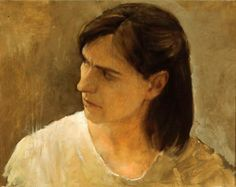 "Randall Exon, Joyce, oil on board, 14""x18"", 1996."