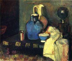 Henri Matisse. Jarra azul, 1901. Museo de Bellas Artes Pushkin, Moscú.  WikiPaintings.org