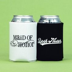 Exclusively Weddings Maid of Honor and Best Man Can Coolers: Wedding gift