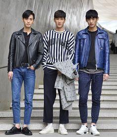Street style: Kim Yong Ha, Ahn Bo Hyun and Kim Tae Hwan by Baek Seung Won at Seoul Fashion Week Fall 2015