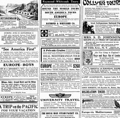 Antique Images: Digital Download Background Paper of Vintage Ads