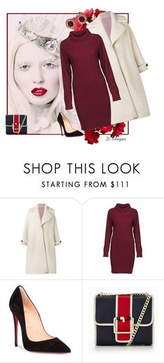 """""""Christmas Bliss"""" by deborah-strozier ❤ liked on Polyvore featuring Olympia Le-Tan, DUBARRY, Christian Louboutin, Tommy Hilfiger and Amrapali"""