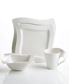 Villeroy & Boch Dinnerware, New Wave 4 Piece Place Setting - Casual Dinnerware - Dining & Entertaining - Macy's