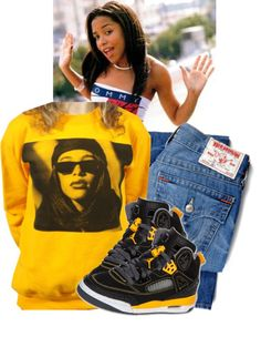 """Aaliyah 3 R.I.P."" by mindlesslyamazing-143 ❤ liked on Polyvore"