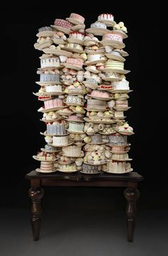 Gluttony  Canadian ceramicist Dirk Staschke creates realistic sculptures of cakes and pastries.
