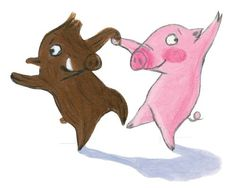 Pig Illustration, Illustrations, Pig Drawing, Pig Art, This Little Piggy, Partner, Pigs, Hair Loss, Animals And Pets