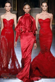 Dress on far right, Zuhair Murad