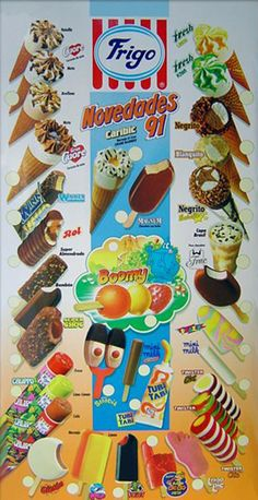 Repasamos la EGB a través de 12 carteles de helados de Frigo de aquellos años - Yo fui a EGB