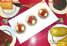 Involtini di peperoni con bocconcini di patate su crema di ceci neri, non servono molti ingredienti per preparare una ricetta speciale. Ma servono ingredienti di qualità.