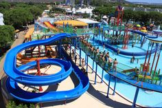 AQUA SHOW PARK in QUARTEIRA is a vast park with water and ride attractions. Older kids will love the Wild Snake covered, circular 16 meter slide. If that doesn't scare them, the White Fall should provide a boost of adrenaline. http://bit.ly/HVMHuT