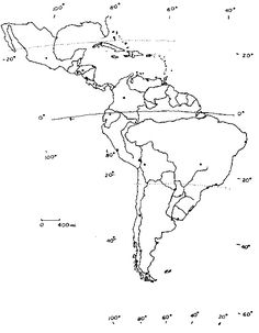 central america printable outline map, no names, royalty