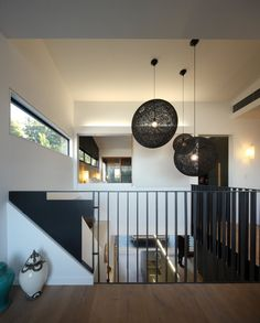 CONTEMPORIST Beeston Street House by Shaun Lockyer Architects. Lights and steel balustrade.