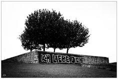"HANNOVER Hanover Mittelfeld Monumental ""Ich liebe dich"" / ""I love you""  hanover germany"