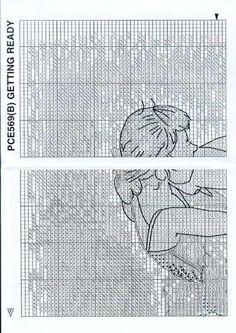 Gallery.ru / Фото #3 - 33 - 58savinkina Cross Stitch Alphabet Patterns, Cross Stitch Pictures, Cross Stitching, Little Girls, Mix, Embroidery, Quilts, Stitches, Crafts