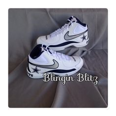 216efe47d3e2 Men s Nike overplay vii NFL shoes by BlinginBlitz on Etsy