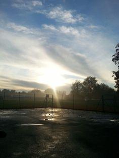 Sunrise breaking through!