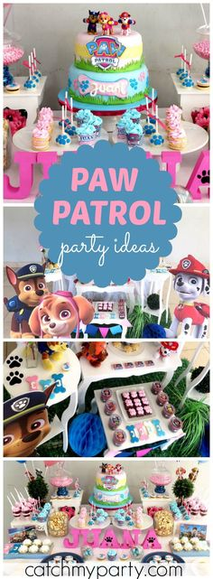 Come over and check out this awesome Paw Patrol party! See more party ideas at CatchMyParty.com!
