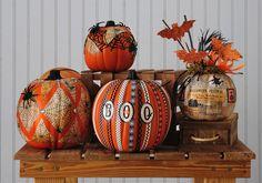 Cool Halloween Pumpkin Decorating Ideas with Mod Podge