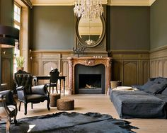 classic french black and wood