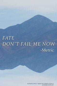 Speed The Collapse  #Metric #Lyrics #LyricsBites