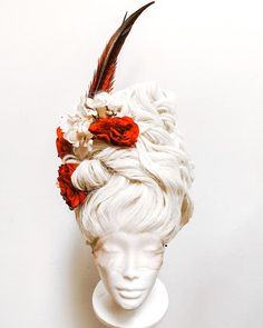 Editorial Hair, Beauty Editorial, Marie Antoinette Costume, Drag Wigs, Halloween Wigs, French Hair, Flower Skull, Hair Reference, Wig Styles