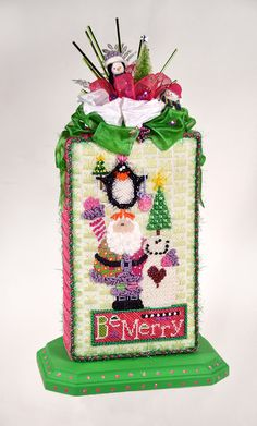 cute finishing   from Not Your Grandmother's Needlepoint