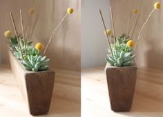 DIY & CRAFT - Justina Blakeney - this is a great use for the container here.