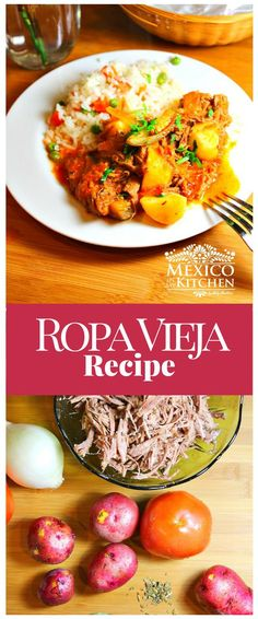 "Ropa Vieja (which translates to ""old clothes"") is a dish that is popular in Cuba, and many Latin American countries, obviously including Mexico. We have our own versions that change from one region to another #recipe #food #mexican #beef"