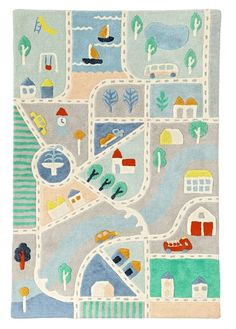 Shop Little City Road Rug.  Our Little City Road Rug features plenty of colorful streets and icons.  Designed exclusively for us by Amy Van Luijk, it'll help you map out the perfect kids room or playroom.