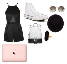 """How to wear a romper"" by zaicute on Polyvore featuring Topshop, Converse, Michael Kors, Brixton, Prada and Jaeger"