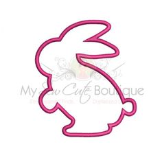 rabbit embroidery design applique – Vyhľadávanie Google Applique Designs, Machine Embroidery Designs, Create Name, Cute Boutiques, Machine Applique, Vinyl Designs, Monogram, Stitch, Sewing