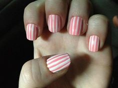 Candy-striped nails. Submitted via Facebook by Vicky Mycio.