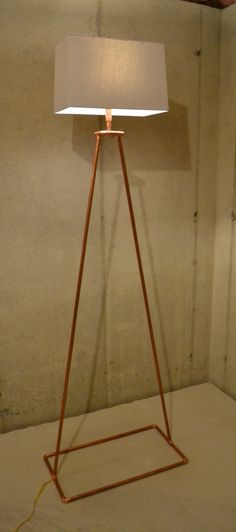 Copper Tube Floor Lamp Angular Delight by AtDCustomCopperLamps   www.atdcoppercreations.com