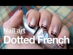 Dotted French Tip--Lovely! It reminds me of a lacy finish but more modern!