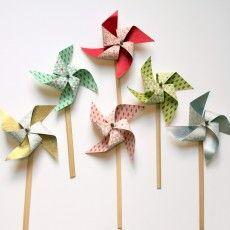 Modern Confetti : moulin à vent fait à la main pour mariages et fêtes