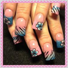 Pink and blue by Oli123 - Nail Art Gallery nailartgallery.nailsmag.com by Nails Magazine www.nailsmag.com #nailart
