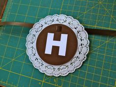 SUPER cute doily banner