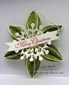 Keepsake Ornament from Stampin Up