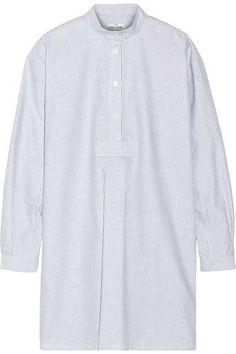 Long striped cotton Oxford nightshirt #shirt #offduty #formal #covetme #thesleepshirt
