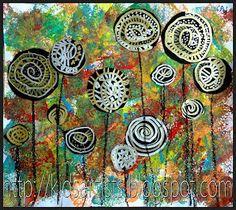 Hundertwasser lollipop trees art lesson (Medium)