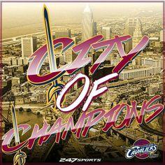 The Cleveland Cavaliers are NBA Finals Champions! Cleveland City, Cleveland Indians Baseball, Cleveland Rocks, We Are The Champions, Nba Champions, Basketball Legends, Basketball Teams, Baseball Helmet, Baseball Bats