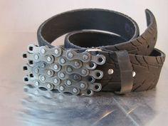 Bike Chain Belt buckle - Clear Finish. $33.33, via Etsy.