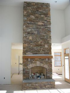 fireplace rock work