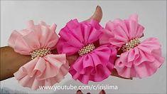 (2) Laço de Fita de Gorgurão Laço Simples Franzido Duplo PAP TUTORIAlL Iris Lima - YouTube