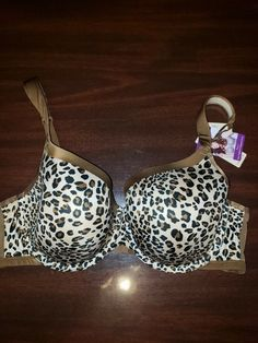 9f9d3d5d83 CACIQUE 42D new with tags animal print french full coverage bra  fashion   clothing