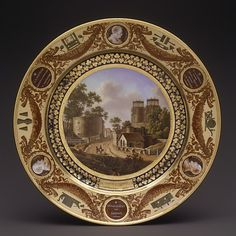 "1827 Plate from the ""Service Des Départements"" Sèvres Manufactory (French…"