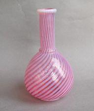 "Vintage Fenton Cranberry Opalescent Swirl 6"" Barber Bottle - PERFECT!"