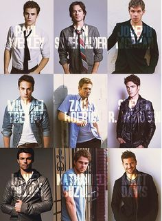 the flawless men of The Vampire Dairies #TVD